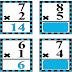 Back to back Flash card of Multiplication 55 sets
