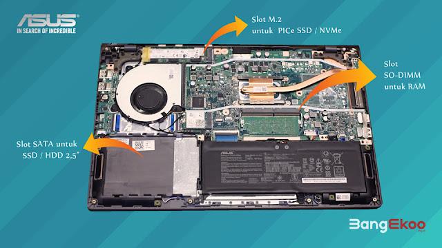 komponen internal asus vivobook 14 a416
