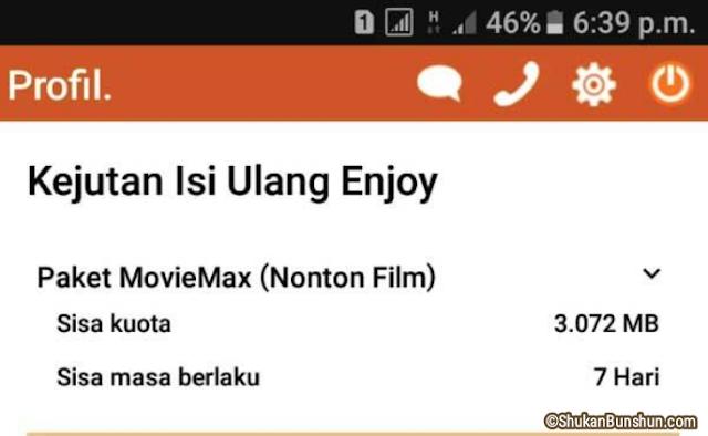 Mengubah Kuota MovieMax Tri Jadi Reguler