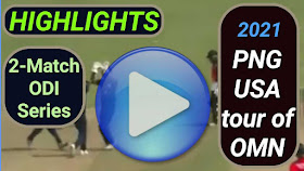 Papua New Guinea vs United States of America ODI Series 2021