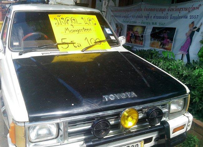 Машина с мангостинами