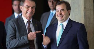Partido de Bolsonaro fecha apoio a Rodrigo Maia para a presidência da Câmara