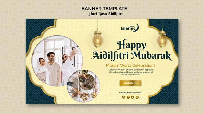 Hari Raya Aidilfitri Banner Theme