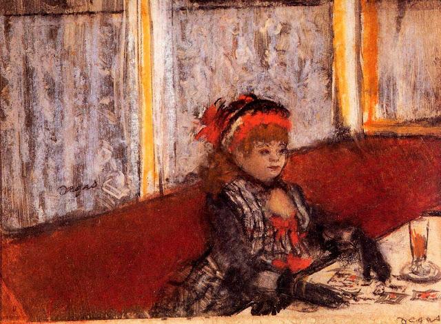 Эдгар Дега - Женщина в кафе (ок.1877)