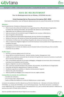 Un(e) Assistant(e) en Ressources Humaines