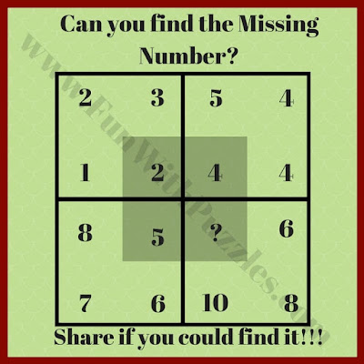 Your challenge is in this IQ Test Maths Puzzle Question is to find the value of the missing number