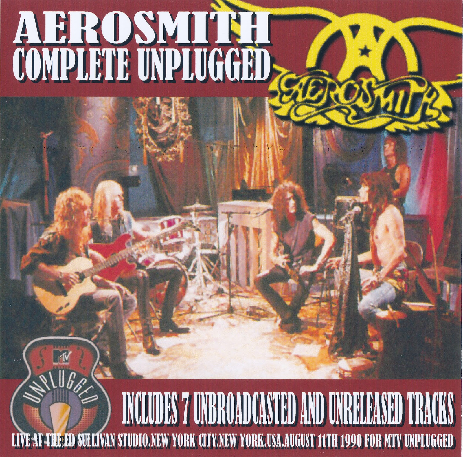 Aerosmith Bootlegs Cover Arts Complete Unplugged New