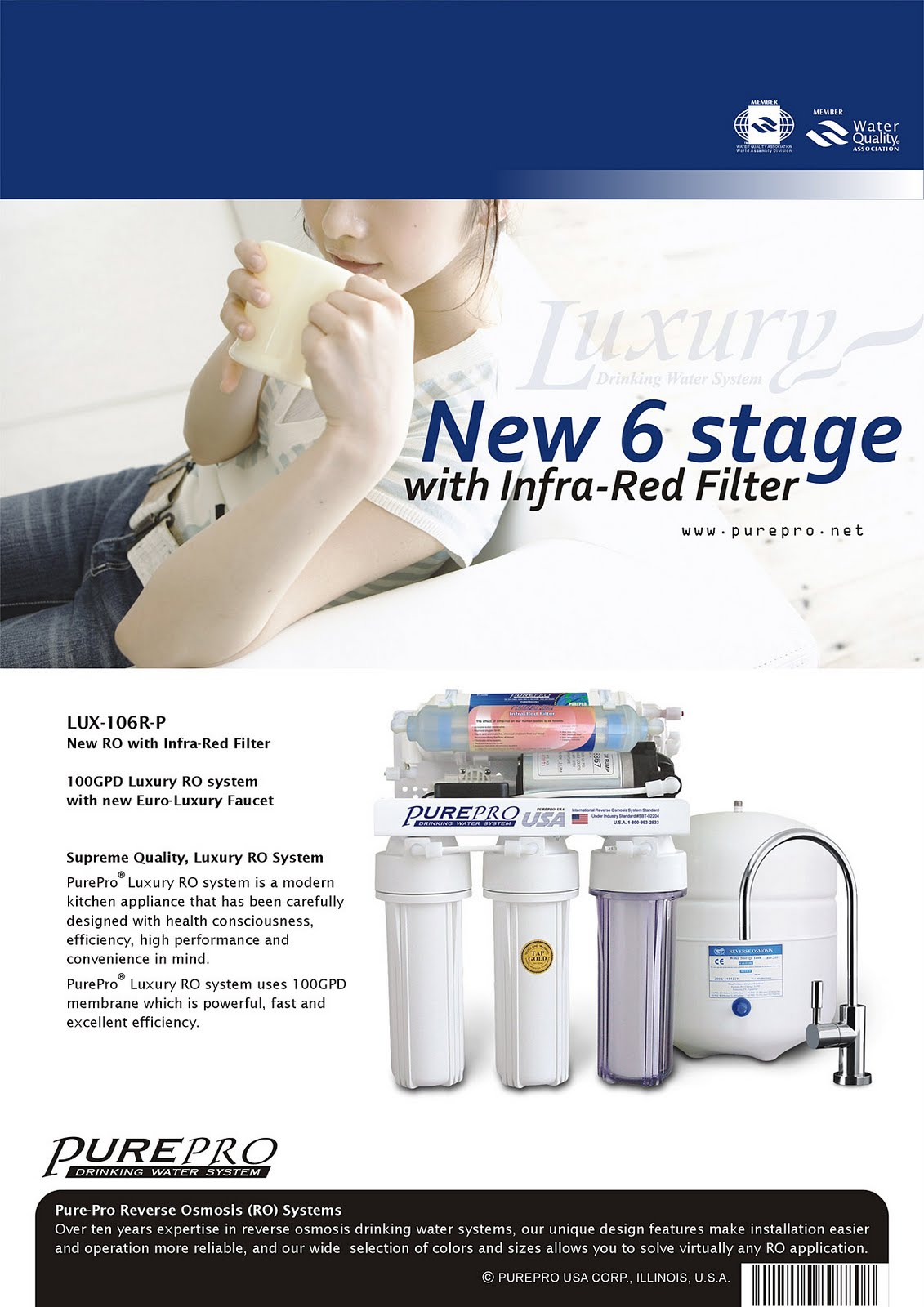 PurePro® LUX-106R-P Reverse Osmosis Water Filtration System