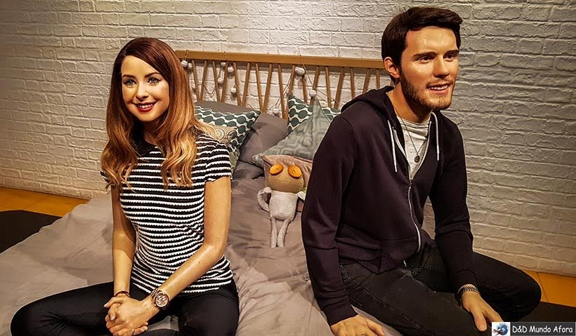 Youtubers Zoe Sugg (Zoella) e Alfie Deyes (PointlessBlog) - Madame Tussauds: Como visitar o museu de cera de Londres