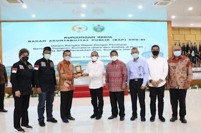 DPD RI Minta Keterangan IHPS I Tahun 2020 kepada Pemko Siantar