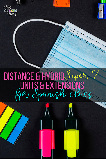 High Frequency Verb Units - Distance & Hybrid Unit variations and Super 7 extensions