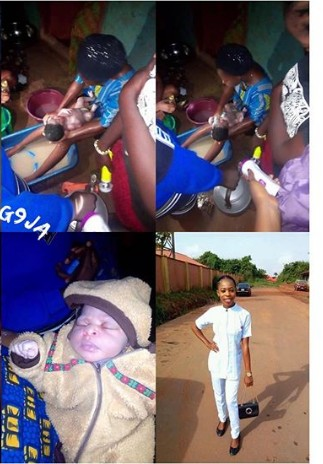 Edo Nurse 'Beauty' Delivers A Mentally Challenged Lady Of a baby by the road