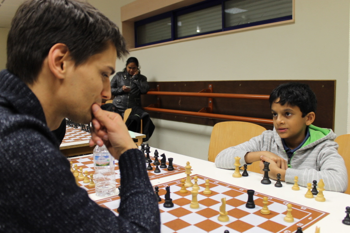 Sarin Nihal et Anthony Wirig à l'Open de Cappelle 2016 à l'Open de Cappelle 2016 - Photo © Chess & Strategy