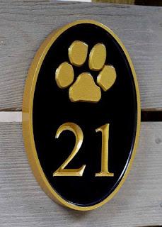 placa de numero de casa