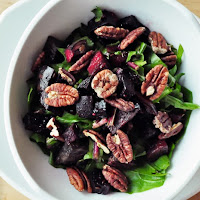 Dandelion Green Salad with Pecans and Roasted Beets