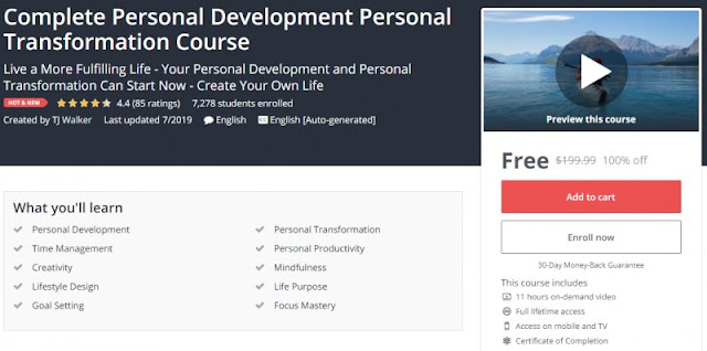 [100% Off] Complete Personal Development Personal Transformation Course| Worth 199,99$