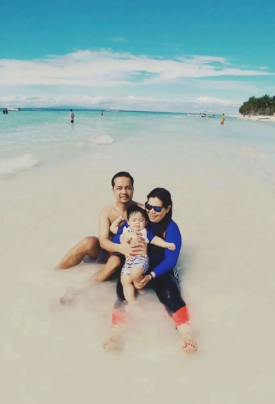 We took our Miguel for a swim at Dumaluan Beach Resort