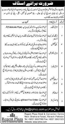 Regent Plaza Hotel Karachi jobs