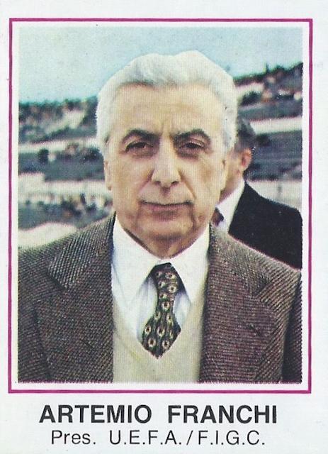 Figurina Artemio Franchi Europa '80