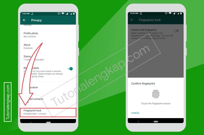 Tutorialengkap 3 Cara Mengunci Whatsapp Dengan Sidik Jari Tanpa Aplikasi Tambahan