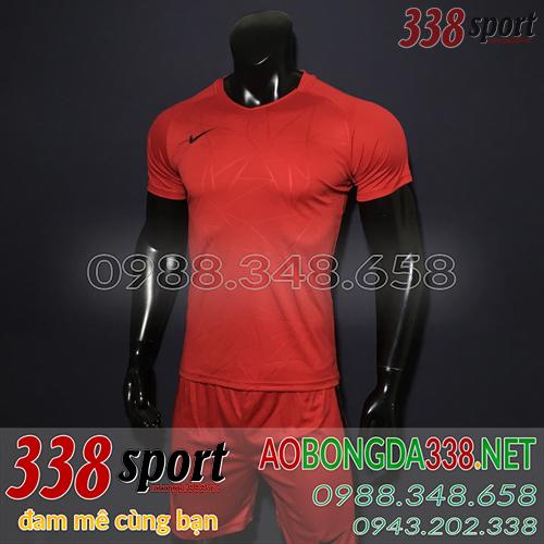 Áo Bóng Đá Không Logo Đẹp Nike TB Đỏ