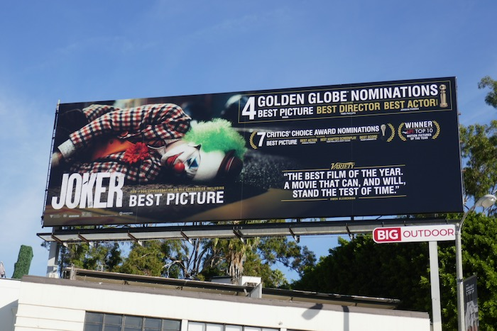 Joker 4 Golden Globe nominations billboard