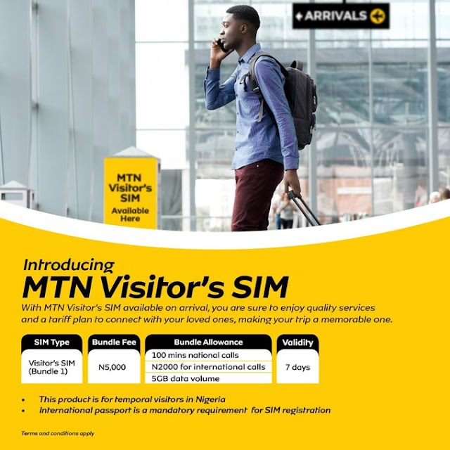 MTN Visitor's SIM - A Cheap Tariff Plan for Visitors to Nigeria