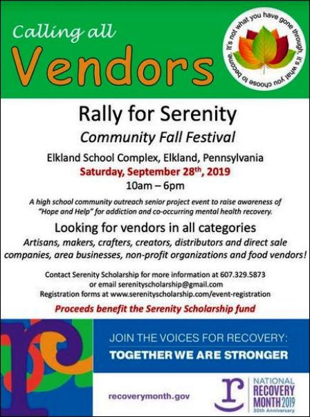 9-28 Vendors Wanted, Elkland