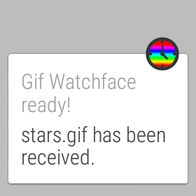 android gif watchface