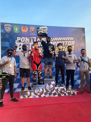 Ricky dan Akuang Mesabet juara 1 dan 2  di Kejuaraan Balap Motor 2020