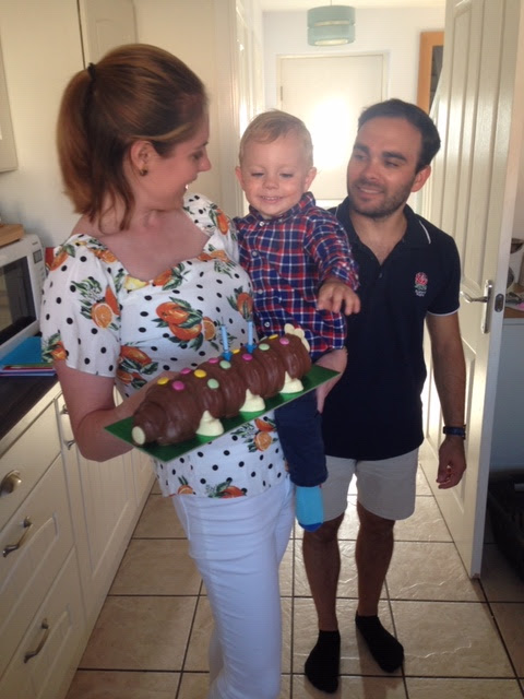 Birthday, Parenting, Family, Colin the Caterpillar,
