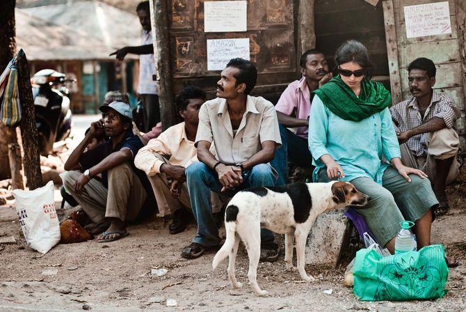 Turista en la India