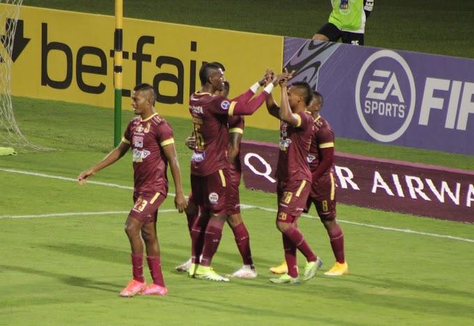 En video: Los goles del empate (1-1) entre DEPORTES TOLIMA y Emelec en Perú, por la Copa Sudamericana 2021
