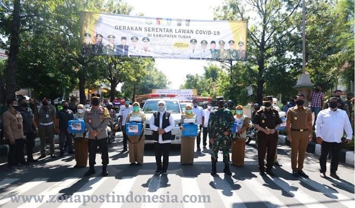 Forkopimda Jatim Membuka Gerakan Lawan covid-19 di Tuban