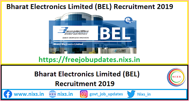 Bharat Electronics Limited (BEL) Recruitment 2019