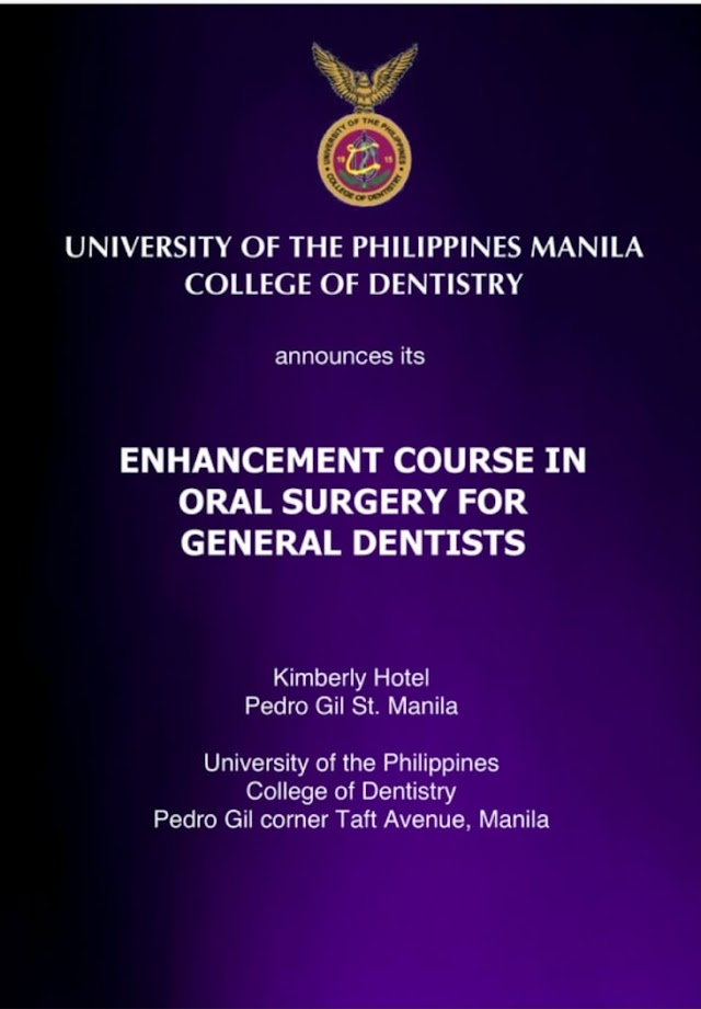 UPCD Enhancement Course in Oral Surgery for General Dentists