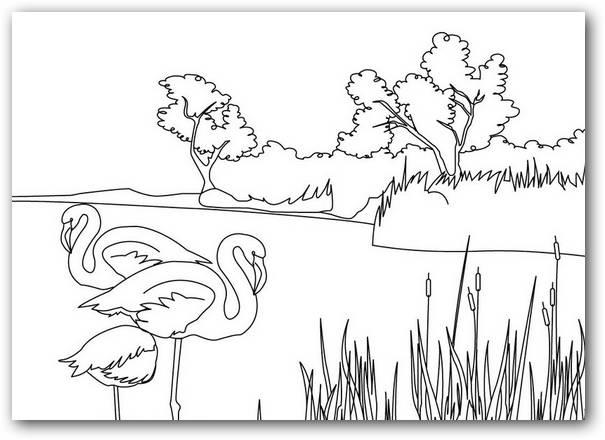 Dibujos Para Colorear Paisajes Naturales: Dibujos Para Colorear Paisajes