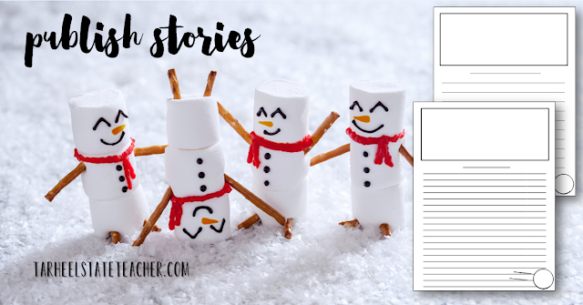 This snowman creative writing project is a great way to let your upper elementary students have some fun before or after the holiday break. You can use it in December during the week before Christmas vacation, or use it to dive back into learning in January. Either way your 3rd, 4th, 5th, 6th, and 7th grade students are going to have a strong focus on reading, writing, vocabulary, and character traits. It's a great, individualized project that you can differentiate to meet ALL students needs!