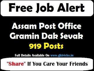 Assam Post Office Gramin Dak Sevak