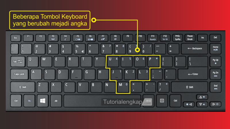 tutorialengkap 2 Cara Memperbaiki Keyboard error Huruf menjadi Angka pada Laptop