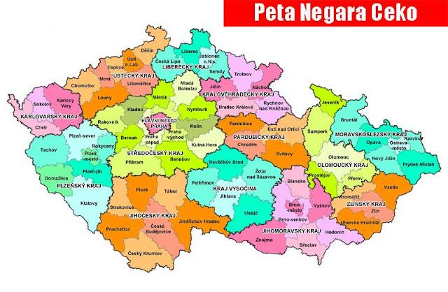 Gambar Peta Negara Bagian Ceko