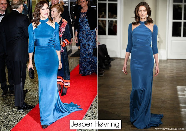 Crown Princess Mary wore Jesper Høvring gown from fall winter 2016-2017 collection