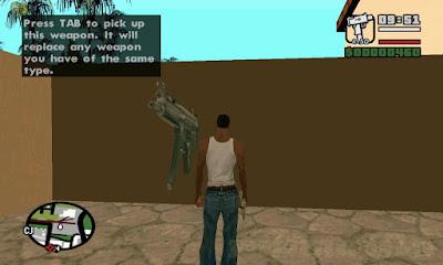 Cara Menukar Mengganti Senjata GTA SA