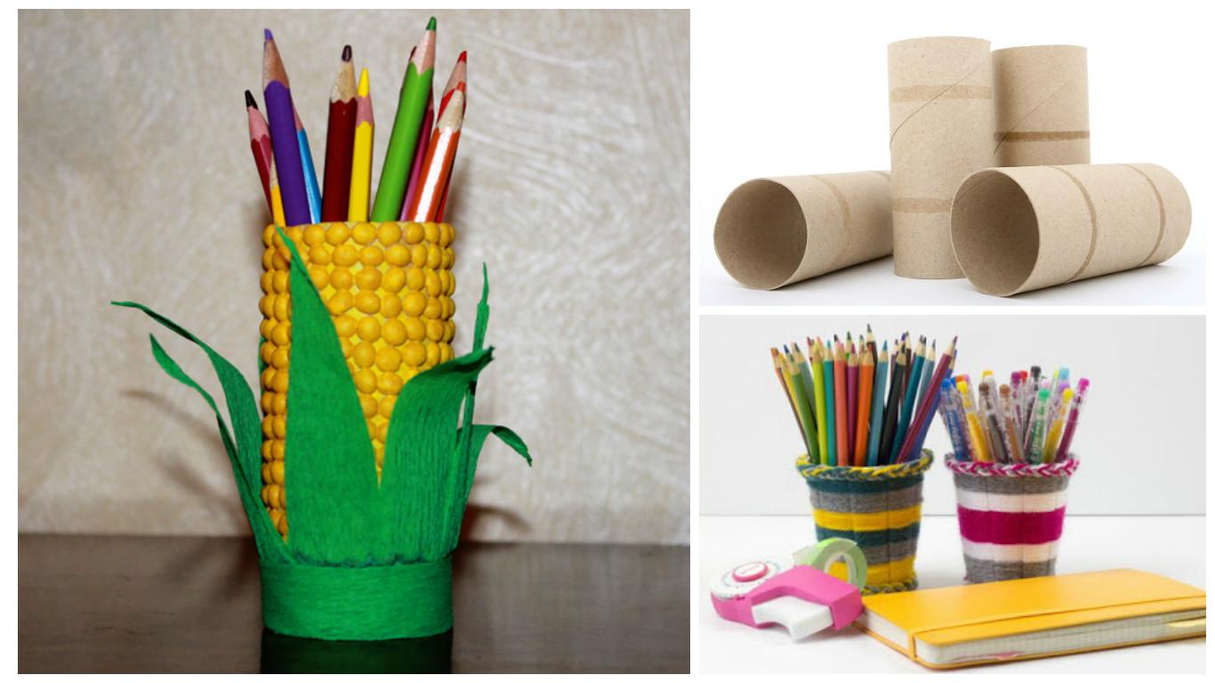 Portal pices original reciclando rollos de papel higi nico - Decoracion con rollos de papel higienico ...