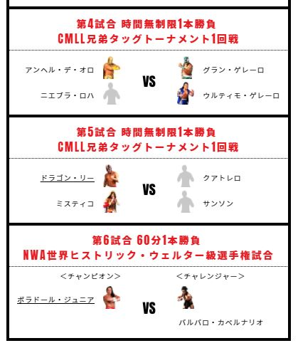 NJPW PRESENTS CMLL FANTASTICA MANIA 2018 1月21日 試合結果