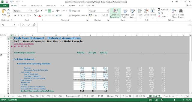 Cash Flow Statement Template in Excel