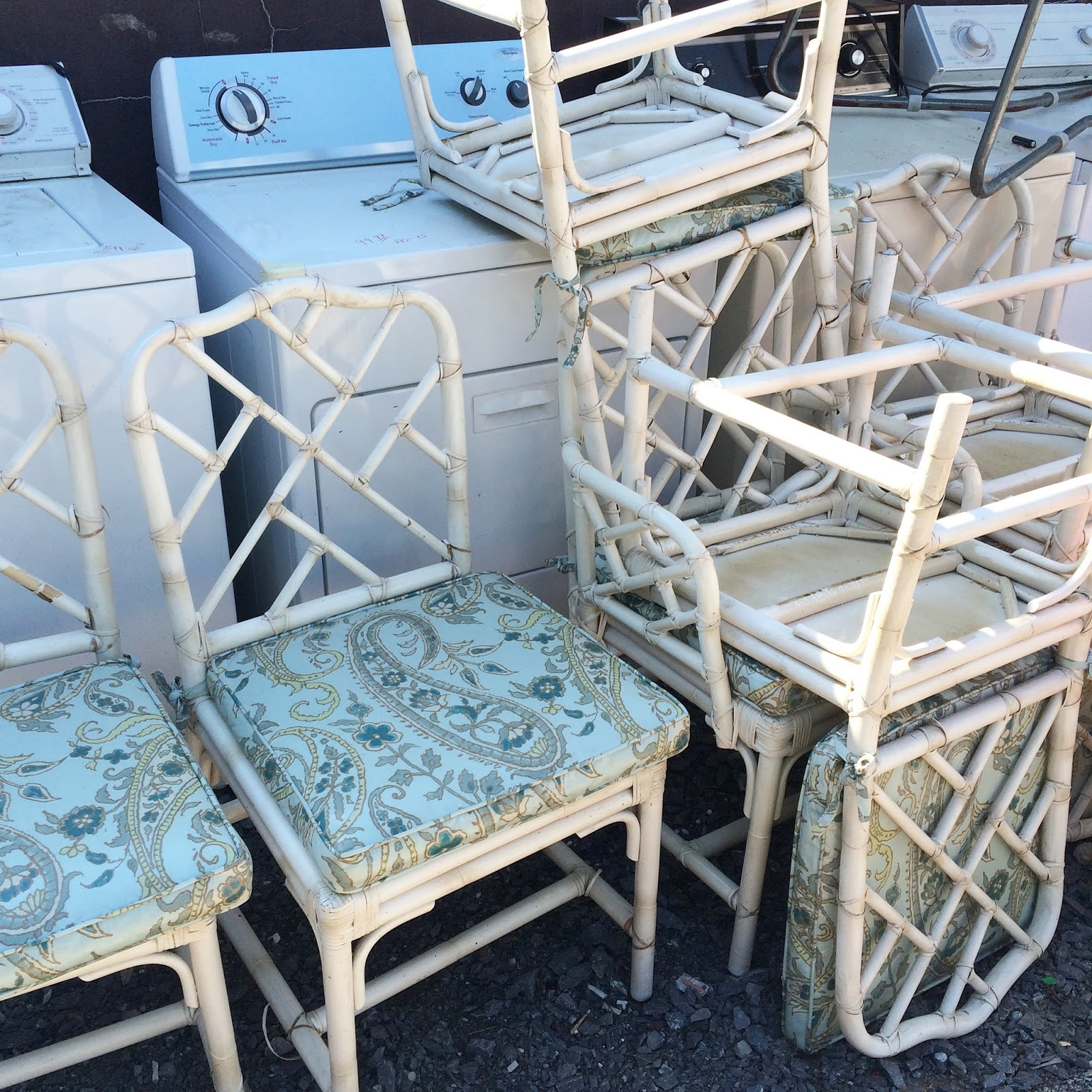 This Was How I Found The Chairs At Thrift They Hadn T Even Been Priced Or Taken Inside Yet