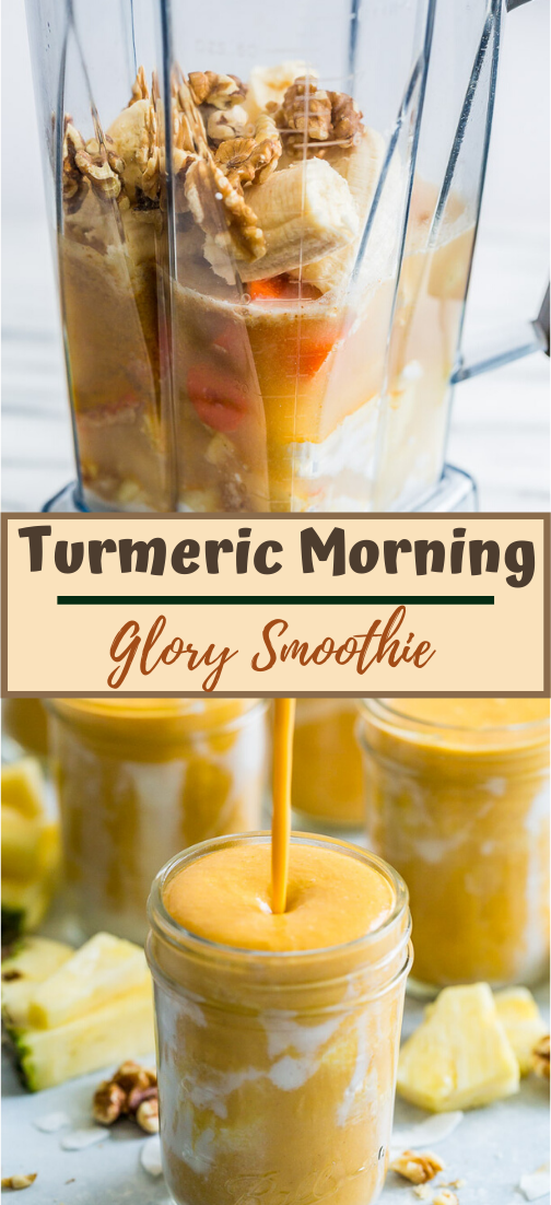 Turmeric Morning Glory Smoothie  #healthydrink #easyrecipe #cocktail #smoothie