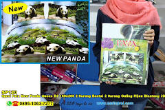 Sprei Fata New Panda Queen B2 160×200 2 Sarung Bantal 2 Sarung Guling Hijau Binatang 3D Dewasa Poly TC