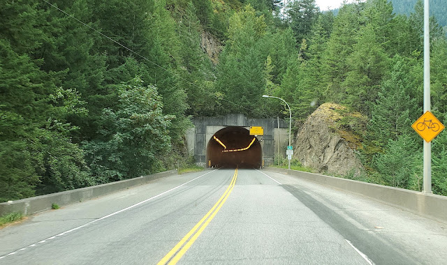 Trans-Canada Highway tunnels Fraser Canyon